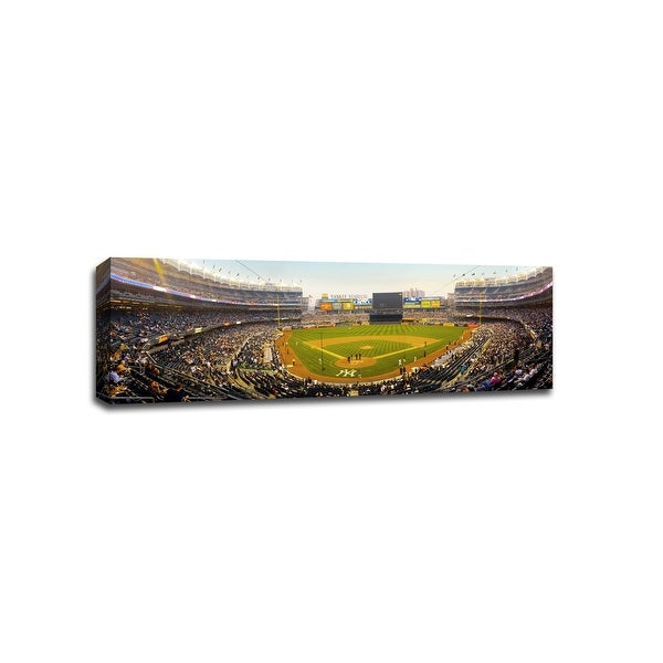 Yankee Stadium at Dusk - MLB - Baseball Field - 48x16 Gallery Wrapped Canvas