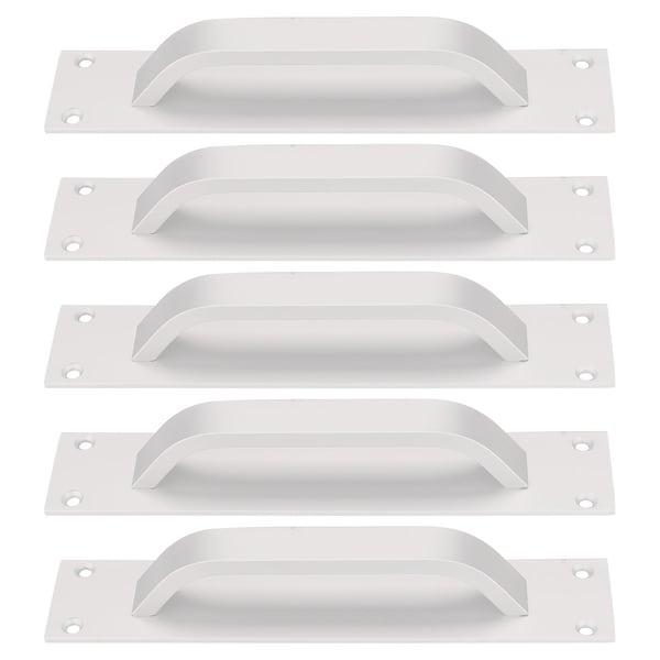 """Cabinet Handle 5"""" Hole Center Zinc Alloy for Door Handles 5pcs, Silver Tone - Silver Tone - 5pcs/Type #3"""