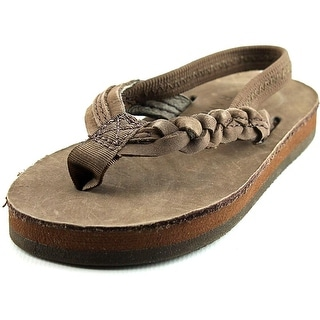 Rainbow Flirty Braidy Open Toe Leather Thong Sandal