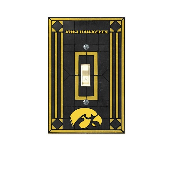Shop Iowa Hawkeyes Art Glass Light Switch Cover - Free Shipping On ...