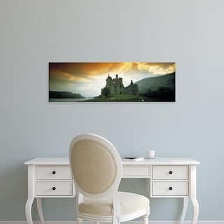 Easy Art Prints Panoramic Images's 'Castle of Kilchurn Scotland' Premium Canvas Art