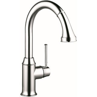 Hansgrohe 04215  Talis C High-Arc Pull-Down Kitchen Faucet with Magnetic Docking Spray Head and Locking Diverter