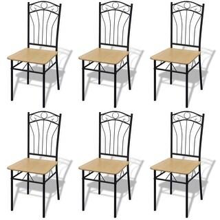 vidaXL Dining Chairs 6 pcs Light Brown