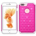 Insten Hard PC/ Silicone Dual Layer Hybrid Rubberized Matte Case Cover with Diamond For Apple iPhone 7 Plus - Thumbnail 5