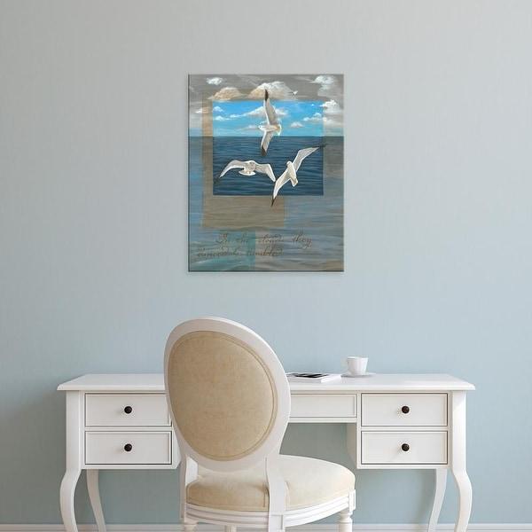 Easy Art Prints Tara Friel's 'Three White Gulls II' Premium Canvas Art