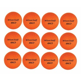 Wilson Staff Fifty Elite Golf Balls (12-Pack, Orange)