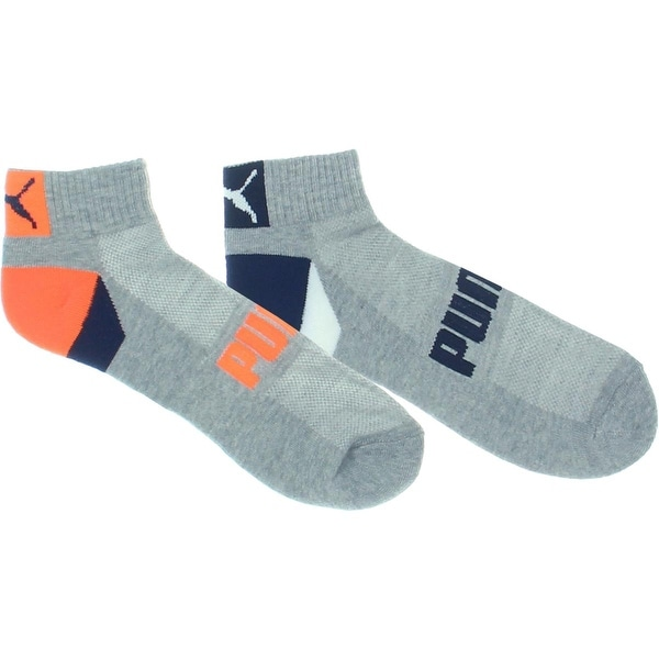 Puma Mens Quarter Socks 6PK Terry Cloth - 10-13