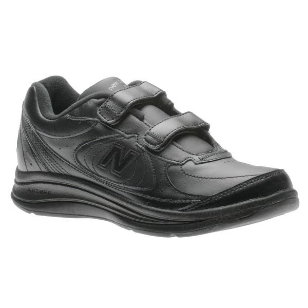 New Balance Womens ww577vk Low Top Buckle Walking Shoes, Black, Size 9.0 - 9