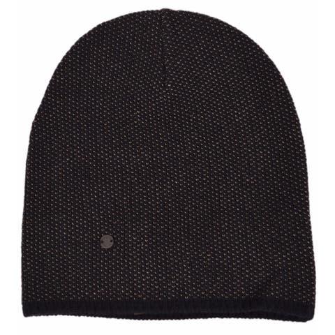 Gucci 352350 Men's Black Beige Wool Cashmere Beanie Ski Winter Hat XL
