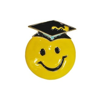 Hand Painted Emoji/GRAD Graduation Themed Brooch Pin, by JADA Collections