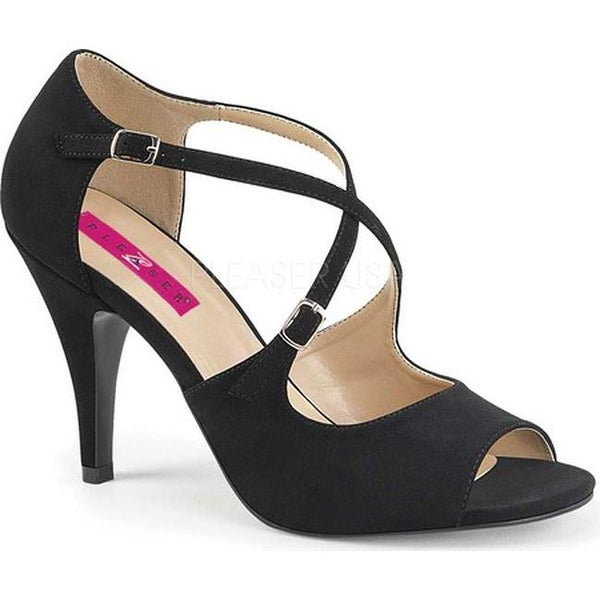 7d81d20430 Shop Pleaser Pink Label Women's Dream 412 Ankle Strap Sandal Black Nubuck -  Free Shipping Today - Overstock - 17734124