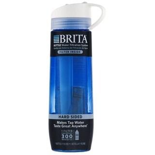 Brita 35808 Hard Sided Water Filter Bottle, Blue, 23.7 Oz.