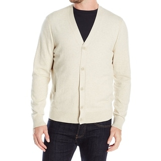 Nautica NEW White Ivory Oatmeal Mens Size XL Layering Cardigan Sweater