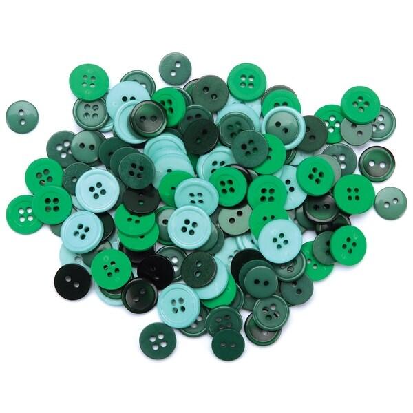 Favorite Findings Buttons 130/Pkg-Green - Green