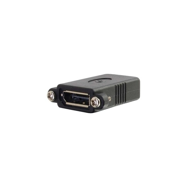 C2G 18405 C2G DisplayPort Female to Female Panel Mount Coupler - 1 x DisplayPort Female Digital Audio/Video - 1 x DisplayPort