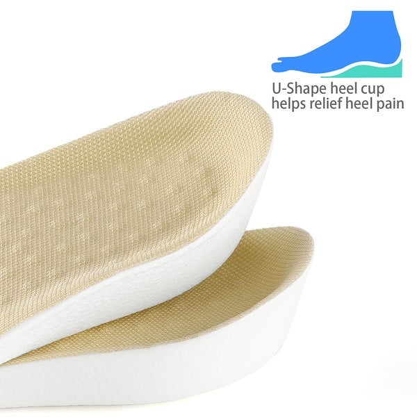 Unisex Silicone Height Increase Double Layers Shoe Insoles Invisible Insert Pad