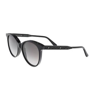 Bottega Venetta BV0067/S 001 Black Round Sunglasses