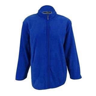Karen Scott Women's Fleece Athletic Zip Up Jacket