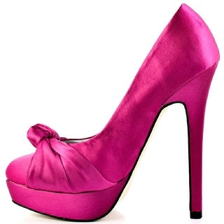 Just Fab Womens Gabby Round Toe Platform Pumps
