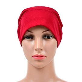 Muslim Scarf Kerchief Hat Solid Color red