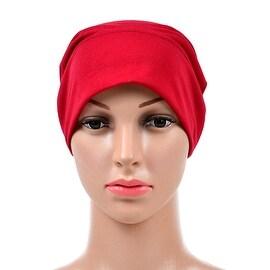 Muslim Scarf Kerchief Hat Solid Color red