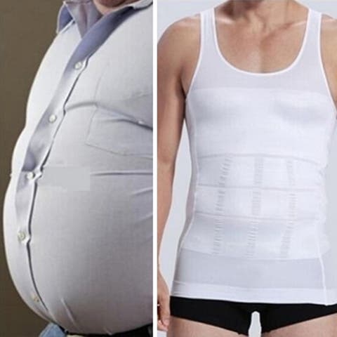 Men's Slim Body Shaper Vest Tank Top Tummy Waist Underwear Beer Belly Slimmer