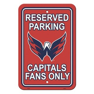 Fremont Die Inc Washington Capitals Plastic Parking Sign Parking Sign