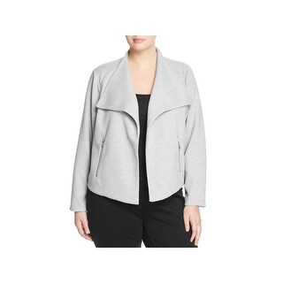 Calvin Klein Womens Plus Jacket Ribbed Drapey