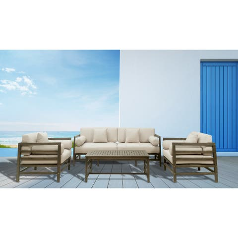 GreyPoint Furnishings - Madelyn 4 Piece Conversation Set
