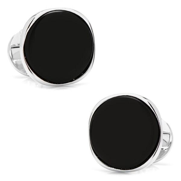Sterling Silver Classic Formal Onyx Cufflinks