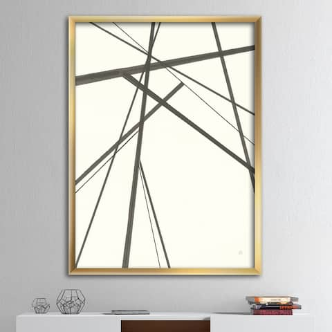 Designart 'minimalist black and white III' Transitional Framed Art Print