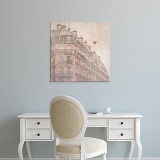 Easy Art Prints Keri Bevan's 'Heart Paris' Premium Canvas Art