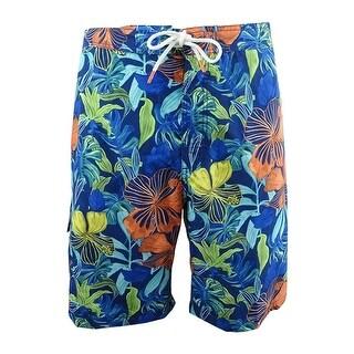 Tommy Bahama Men's Baja Hibiscus Beach Swim Trunks (XXL, Kingdom Blue) - Kingdom Blue - XXL