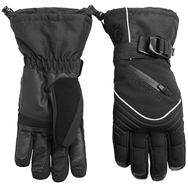Outdoor Gear Womens Boulder Gear Whiteout Gloves, Black, S
