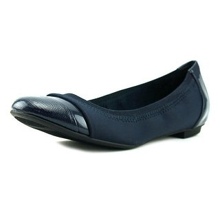 Alfani Jemah Women  Round Toe Canvas Blue Ballet Flats