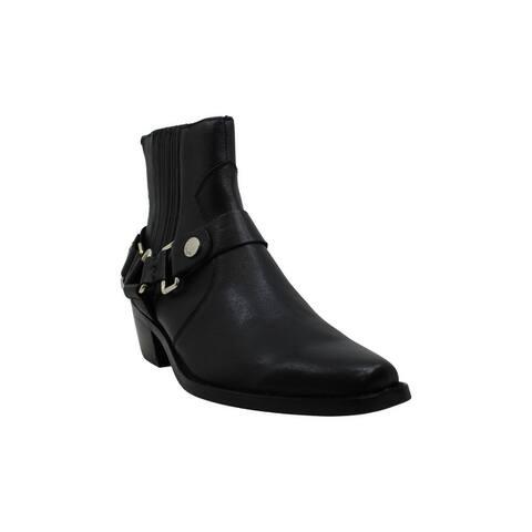 DKNY Womens Mina Suede Almond Toe Ankle Fashion Boots