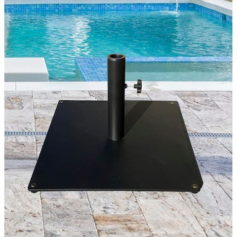 TropiShade 36 lb Black Square Steel Plate Umbrella Base