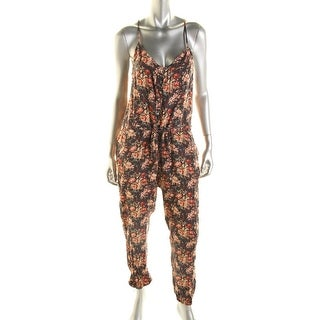 Denim & Supply Ralph Lauren Womens Floral Print Sleeveless Jumpsuit