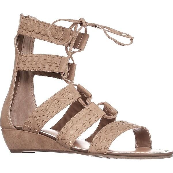 Carlos Carlos Santana Kamilla Flat Lace-up Sandals, Brulee