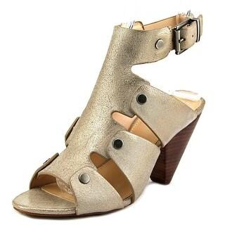 Vince Camuto Ekerd Women Open Toe Leather Gold Sandals