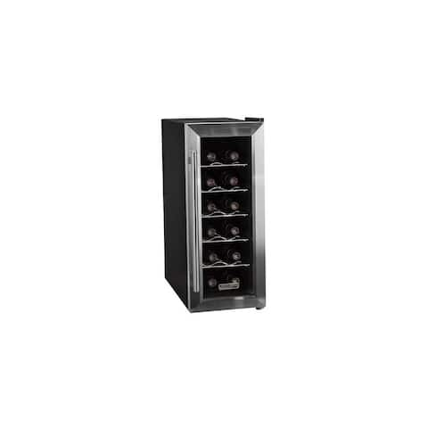 "Koldfront TWR121 10"" Wide 12 Bottle Wine Cooler with Slim Fit and Thermoelectric Cooling - Stainless Steel"