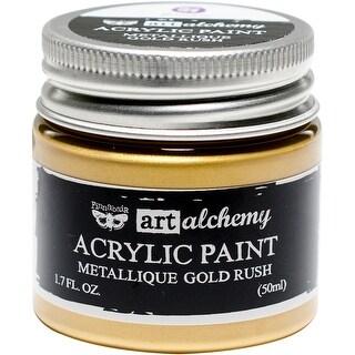 Finnabair Art Alchemy Acrylic Paint 1.7 Fluid Ounces-Metallique Gold Rush