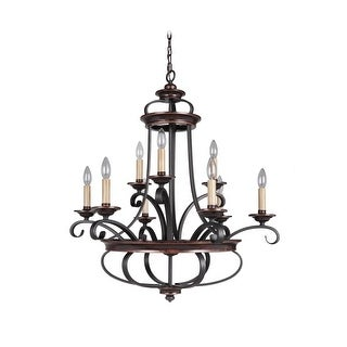 Craftmade 38729 Stafford 9 Light Candle Style Chandelier - 30.5 Inches Wide