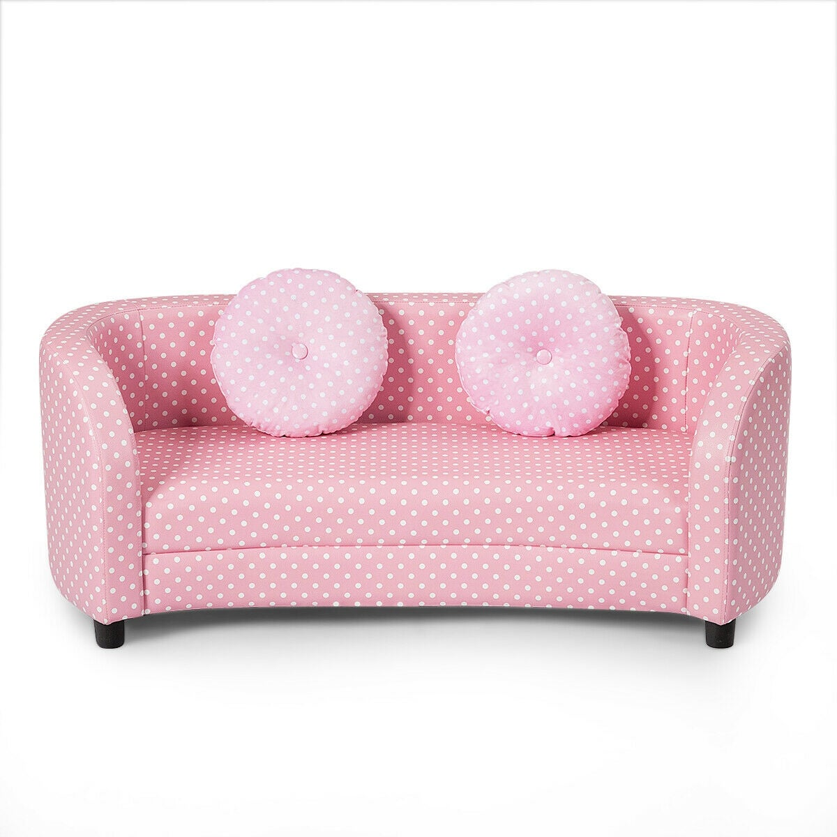 Picture of: Gymax 2 Seat Kids Sofa Armrest Chair With Two Cloth Pillows Perfect Overstock 28163714