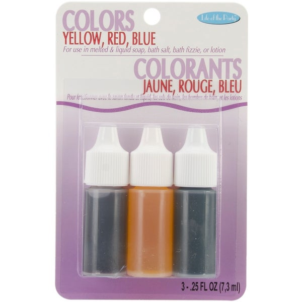 Colors .75Oz 3/Pkg-Red, Yellow & Blue