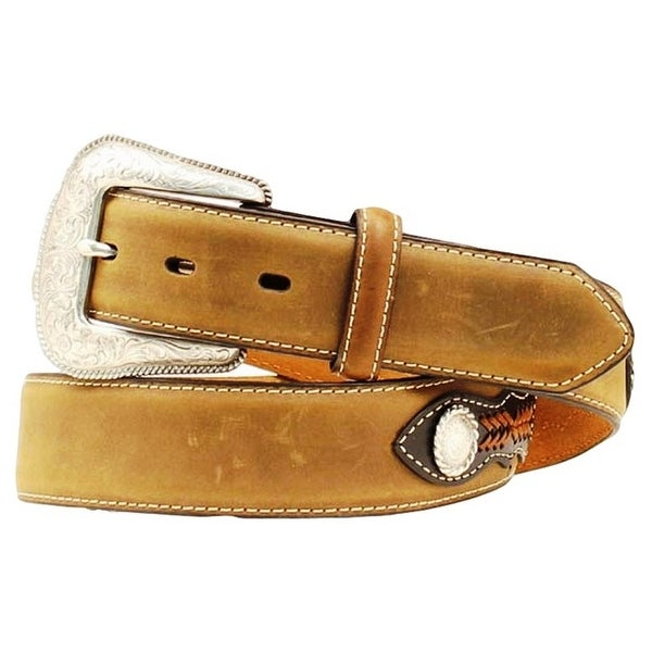 Nocona Western Belt Mens Top Hand Southwest Distressed Brown