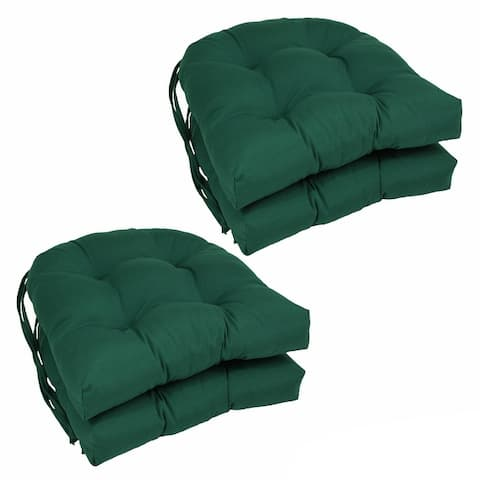 "Blazing Needles 16-inch U-Shaped Dining Chair Cushions (Set of 4) - 16"" x 16"""