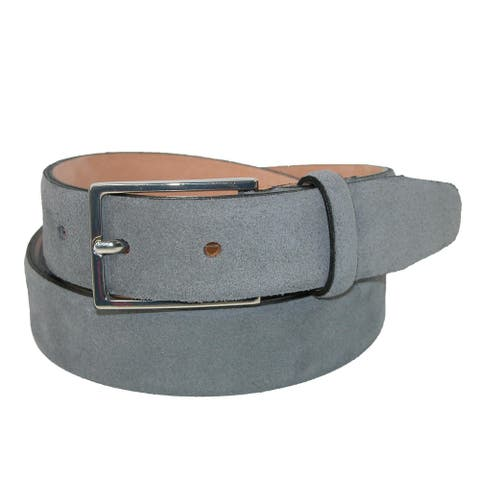 The British Belt Company Men's Stratton Italian Leather Suede Belt