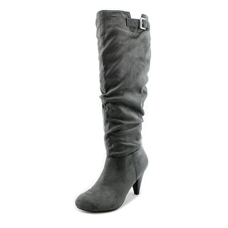 Nine West Tarrah0l1 Round Toe Canvas Knee High Boot