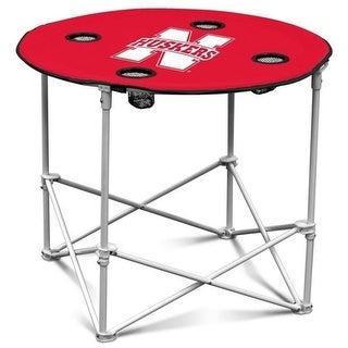 Nebraska Cornhuskers Round Tailgate Table